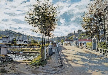 High quality Oil painting Canvas Reproductions The Bridge at Bougival (1869)  By Claude Monet hand painted