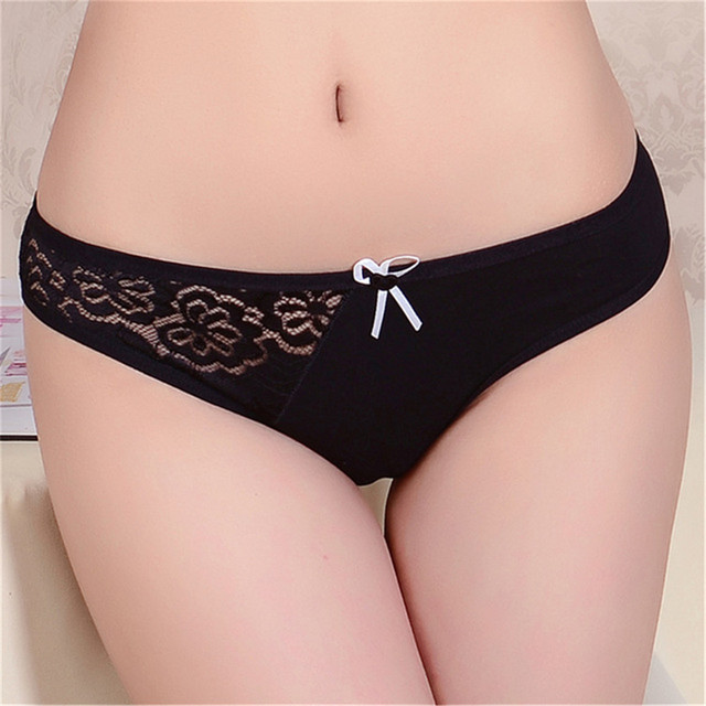 Women Transparent Briefs Lace Sexy Female Underwear Lingerie