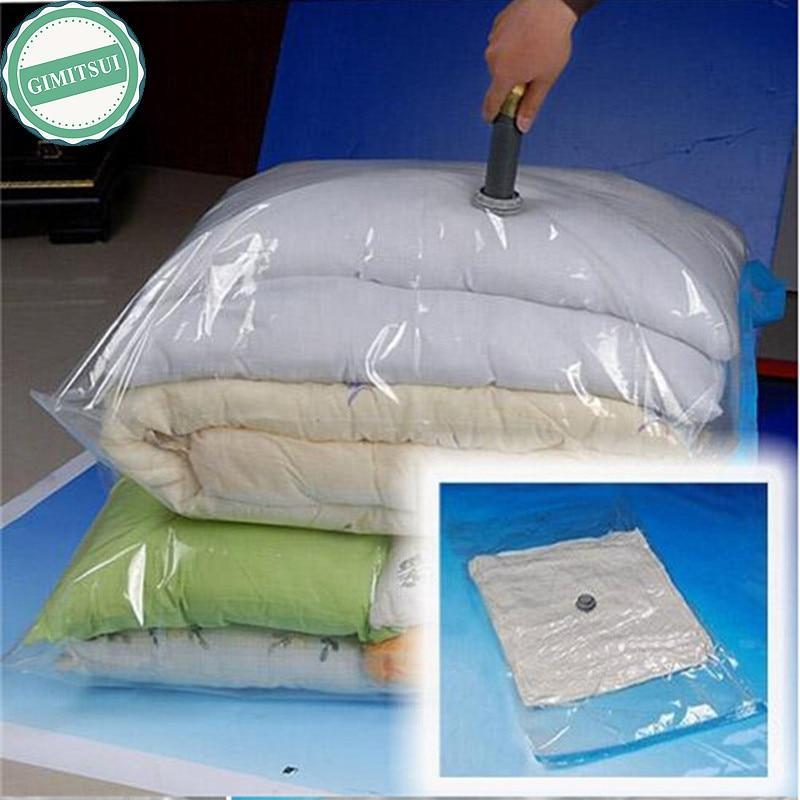 Home Storage Vacuum Space Saver Bag, Compressed Organizer Clothing Quilt Air Pump Seal Bag for Organizing Cupboard Wardrobe