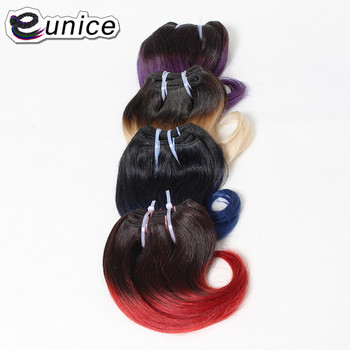 Ombre Bob Hairstyle Synthetic Body Wave Short Hair Weave 8