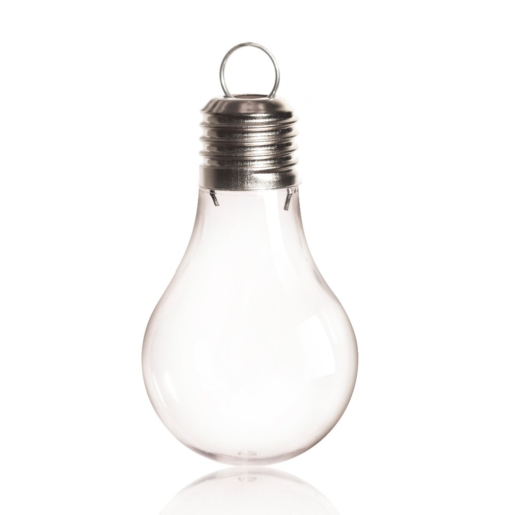 Clear fillable plastic ornaments - Promotion Diy Paintable Shatterproof Clear Christmas Decoration Dimension 95 60mm Fillable Light Bulb Ornament 25 Pack
