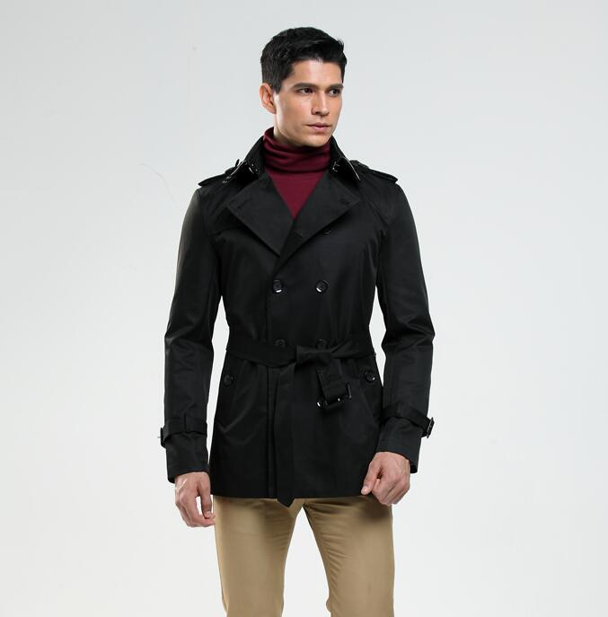 Double-breasted mens trench coats man long coat men clothes slim fit overcoat long sleeve new designer spring autumn fashio