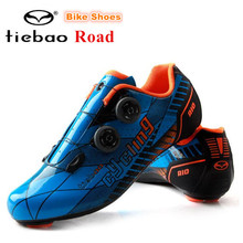 TIEBAO Cycling Shoes men Carbon Fiber 2020 off Road Ultralight bike Shoes PRO Racing Team Self-locking Athletic Bicycle Shoes