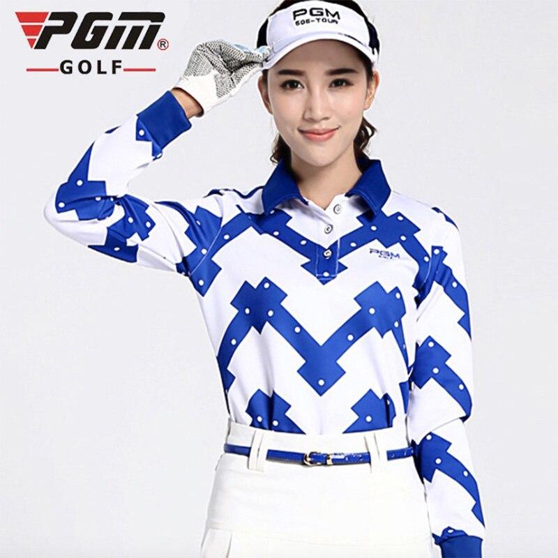 PGM Brand New Golf Shirts sports clothes womens set Women autumn and winter sportwear long-sleeve shirts Sports T-Shirts