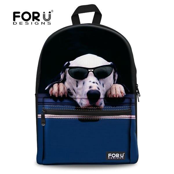 FORUDESIGNS/милый 3D Кот Животное женский рюкзак Женская дорожная сумка для ноутбука повседневный рюкзак для подростков девочек Mujer школьный рюкзак - Цвет: 3f0074a