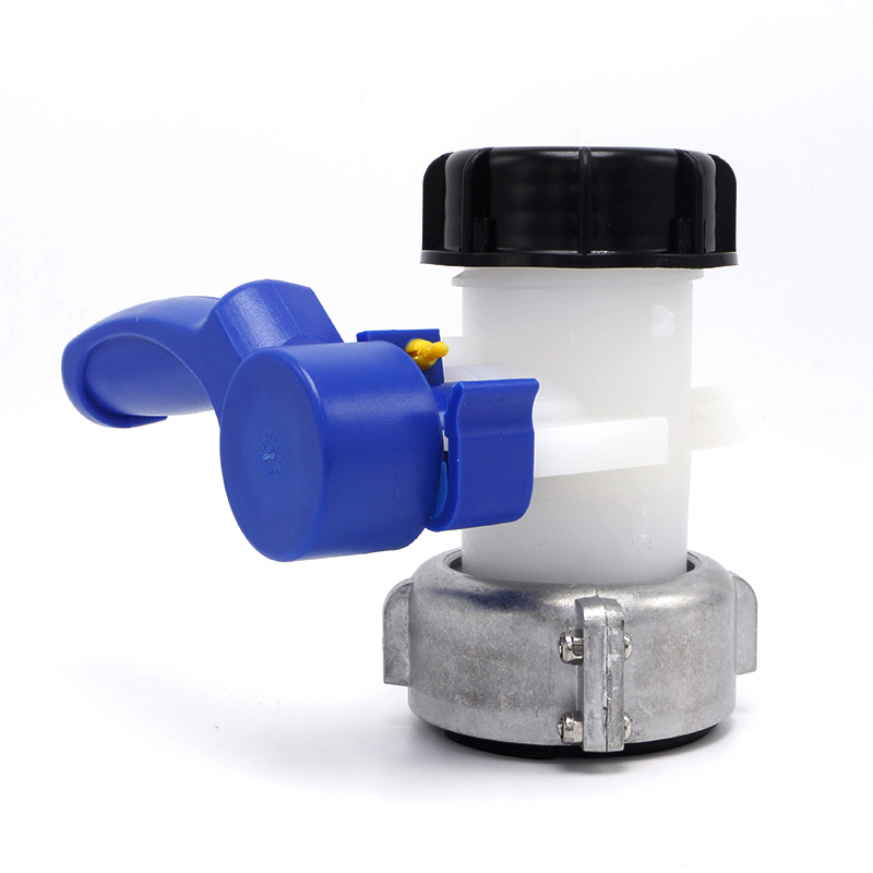 IBC Tank Container Inlet 75mm To Outlet Male 2Inch DN50 Butterfly Valve ibc water tank 62mm dn40 screwable ball valve square coarse thread