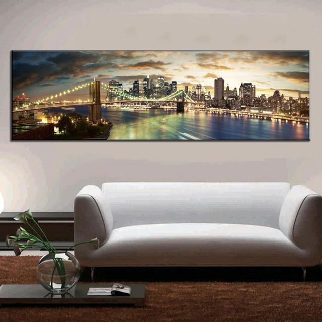 Moderne Landschap Schilderen De Brooklyn Bridge Canvas Prints Grote ...