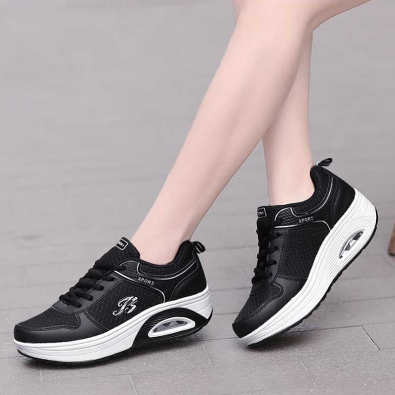 Kadın ayakkabı bahar moda kadınlar rahat ayakkabılar Platform ayakkabılar Pu deri kadın ayakkabı bayanlar beyaz eğitmenler Chaussure Femme c7