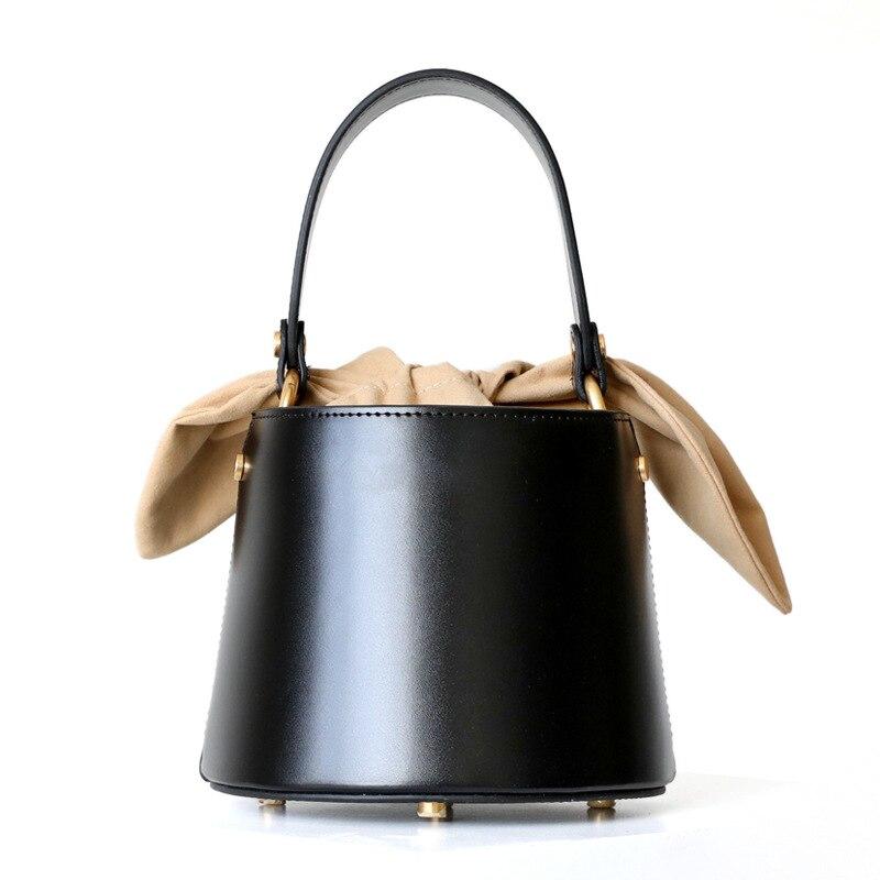 genuine leather bucket bag women real leather  shoulder bag  Designer Handbags High Quality Ladies Shoulder Messenger Bags|Shoulder Bags|   - AliExpress