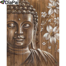 DIAPAI Diamond Painting 5D DIY 100% Full Square/Round Drill Buddha flower Diamond Embroidery Cross Stitch 3D Decor A24635 diapai 5d diy diamond painting 100% full square round drill text moon buddha diamond embroidery cross stitch 3d decor a21533