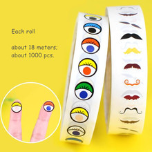 Eye-Stickers DIY Children's with Glue Black And White Coloured Nose Manual Activities-Material