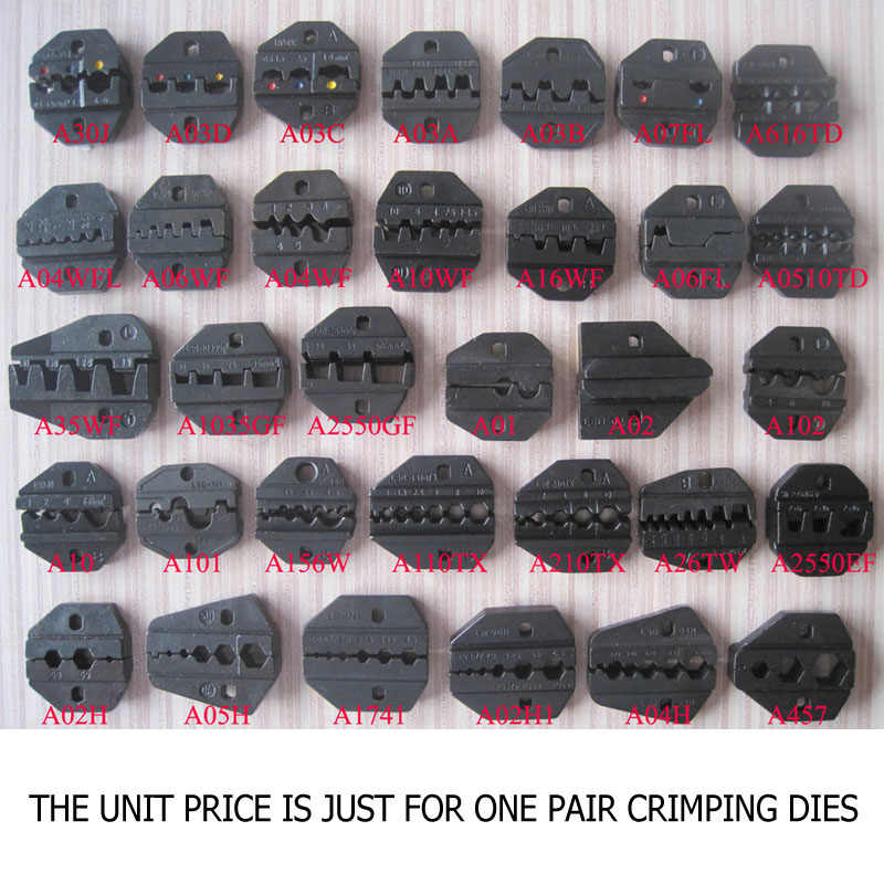 crimping die set for LS,LY,AN,AP,S series Hand Crimper Replaceable crimping die set for AM-10/30 Pneumatic and EM-6B1/2 crimper