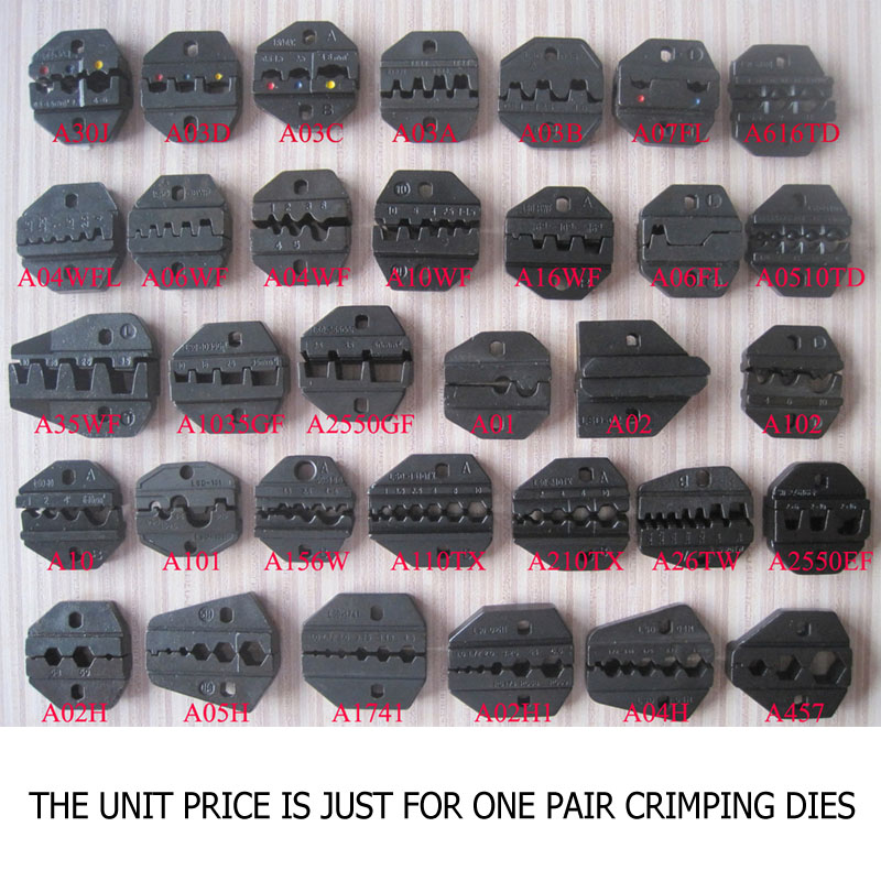 1pair Crimping Die Set For LS,LY,S Series Hand Crimper Replaceable Crimping Die Set For AM-10/30 Pneumatic And EM-6B1/2 Crimper