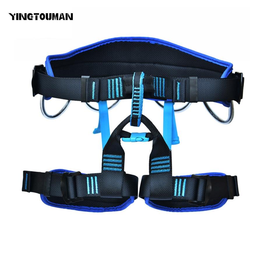 все цены на YINGTOUMAN Rescue Equipment Harness Bust Seat Belt Rock Climbing Harness Seat Belt Safety Belt Outdoor Climbing Accessories