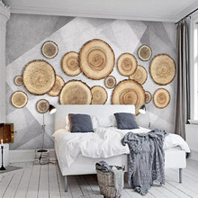Professional production wallpaper murals simple personality abstract geometric annual ring TV background wall cloth thickening