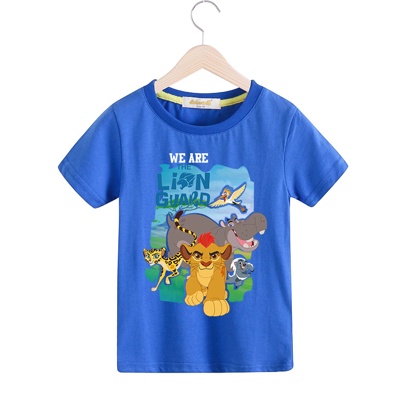 8d213cddbf0bf US $5.1 37% OFF|Children Cartoon The Lion Guard T shirt For Boy Girls 9  Colors Tee Tops Clothes Kids Summer Short Sleeves Tshirt For Baby TX027-in  ...