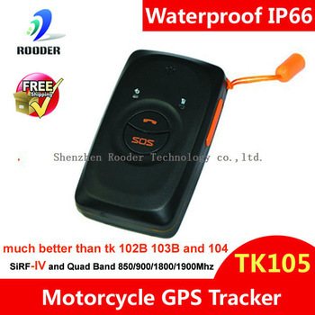 High quality Waterproof GPS chip TK105 with SIRF IV , much better than tk102B 103B and 104 gps trackers  Wholesaler
