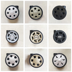 Trolley wheel luggage wheel repair suitcase original universal wheel accessorie replacement part maintain round hole gold