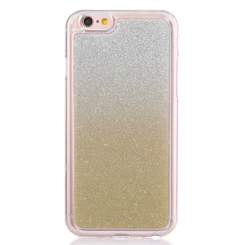 Bling Glitter Gradient rainbow Cases capas para For Samsung Galaxy S4 mini i9190 Cover Soft TPU Frosted shimmering powder Cases