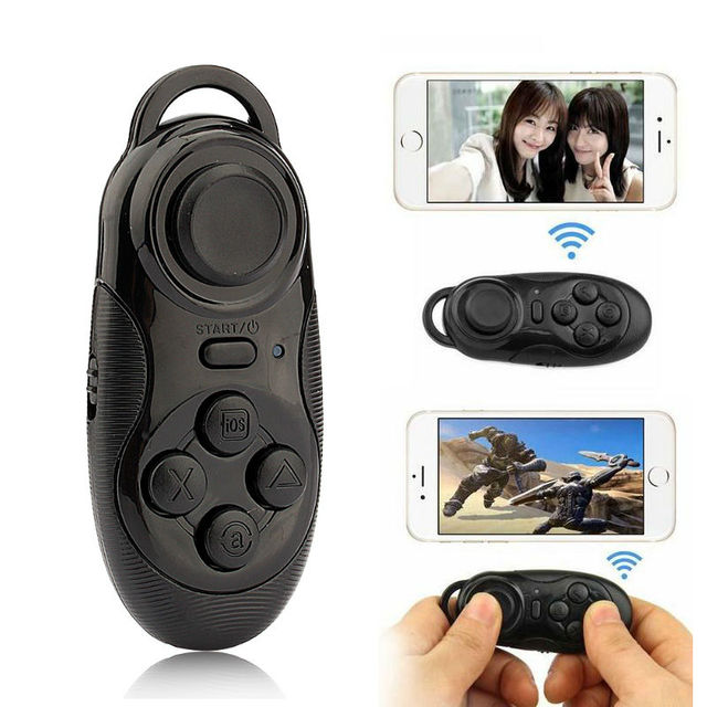 dda4d404076 3 in1 Wireless Bluetooth Gamepad Game Controller Selfie Remote Shutter  Mouse For IOS Android PC Laptop TV Box