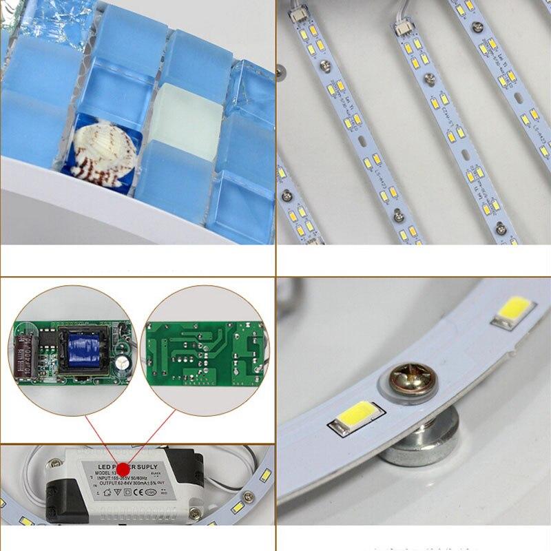 Mediterrane LED Slaapkamer Plafondlamp 36 W Led Strips Warm ...