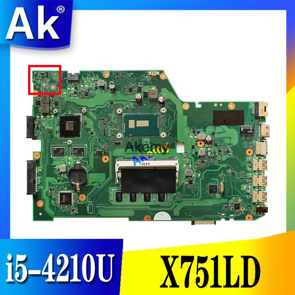 X751LD Motherboard i5-4210U GT820M For ASUS R752L R752LD R752LN X751LN Laptop motherboard X751LD Mainboard X751LD MotherboardX751LD Motherboard i5-4210U GT820M For ASUS R752L R752LD R752LN X751LN Laptop motherboard X751LD Mainboard X751LD Motherboard