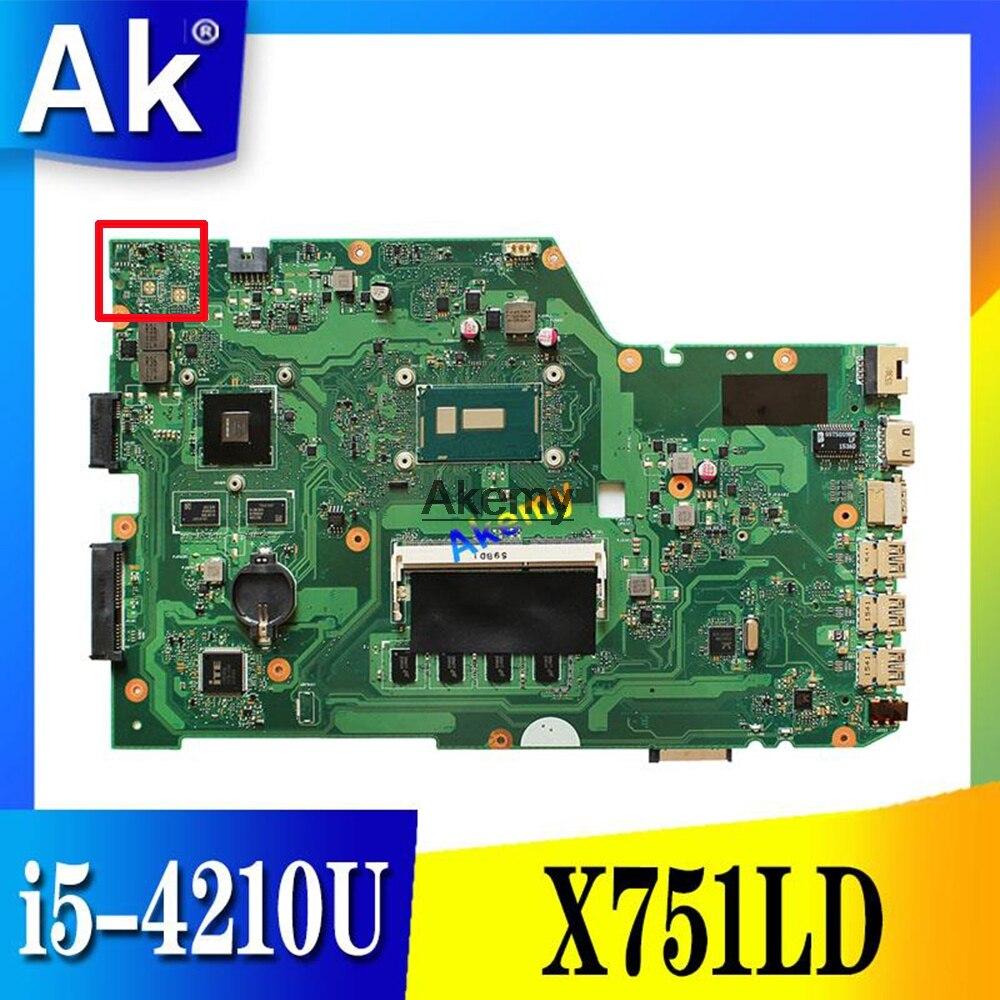 X751LD Motherboard I5-4210U GT820M For ASUS R752L R752LD R752LN X751LN Laptop Motherboard X751LD Mainboard X751LD Motherboard