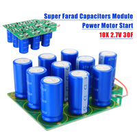 27V 3F Super Farad Capacitors Module Power Motor Start Supercapacitors 10X 2 7V 30F Electronic Components