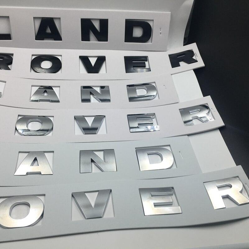 Soarhorse 3 Couleurs Option Pour Land Rover Range Rover Lettres l'avant du Capot Emblème Arrière Tronc Hayon logo Autocollant Noir/argent