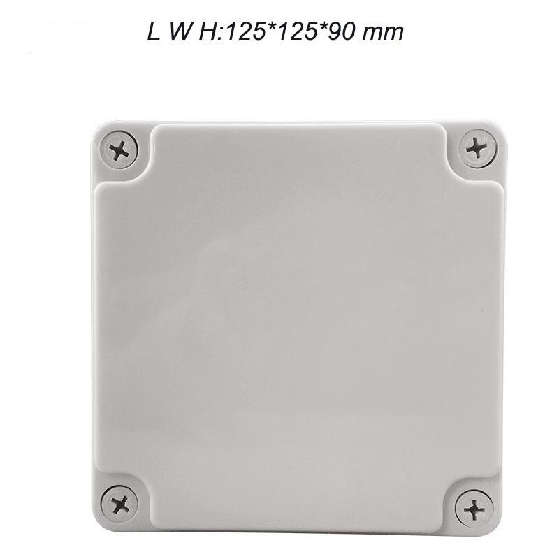 Frete grátis, 125*125*90mm tipo caixa de plástico comum, ABS caixa à prova d' água uso como caixa junciton F1 elétrica