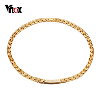 Vnox AAA CZ Stones Women Health Necklace Magnetic Power Stainless Steel Energy Jewelry W Magnets Germanium