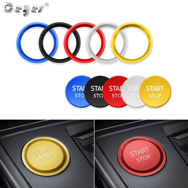Ceyes Car Engine Start Stop Styling Accessories Ignition Push Cover Rings Case For Ford Peugeot 5008 3008 408 508l 2008 308 4008