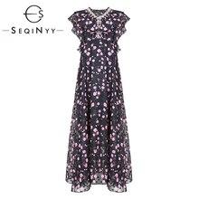 Лето жаккард платье SEQINYY