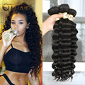 Queen Hair Products Indian Virgin Hair Loose Deep Wave 4 Bundles 7A Unprocessed Human Hair Queen Hair More Wave/ Natural Wave