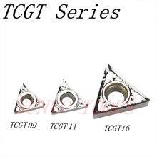 10 יחידות TCGT090202 TCGT090208 TCGT090204 AK H01 KORLOY CNC קרביד הוספת אלומיניום STGCR/STFCR מפנה פנימי