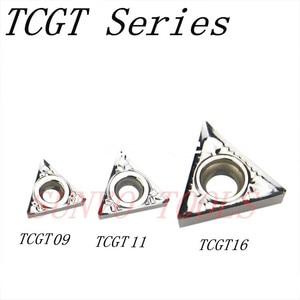 Image 1 - 10pcs TCGT090202 TCGT090208 TCGT090204 AK H01 KORLOY CNC Carbide aluminum insert STGCR/STFCR internal turning tool