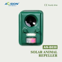 AN B030 Garden Mole Rat Repellent Use Solar Ultrasonic Repel Dog Cat Animal Pest Control Chaser