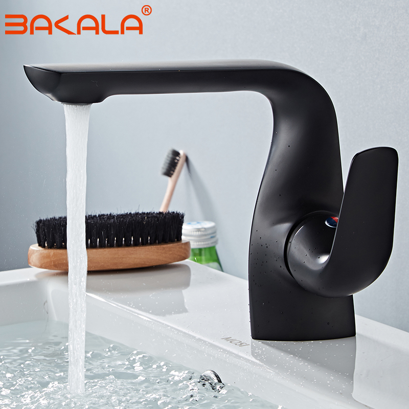 Luxury Black Basin Faucet Modern Bathroom Sink Mixer Tap ...
