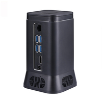 V6B Fanless Mini PC Computer Host Device 2MP HD Camera Quad Core 4+64G Windows 10 HDMI 4K WiFi Bluetooth