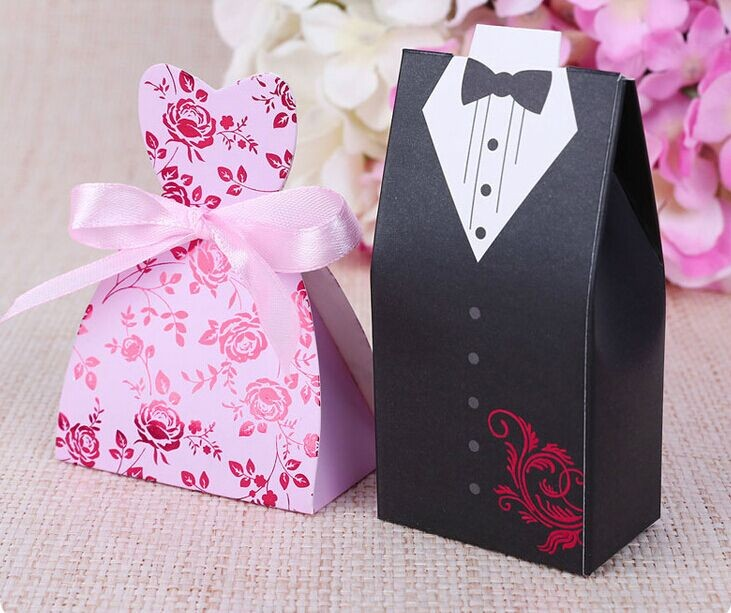 Wedding Return Gift Ideas: Bride And Groom Wedding Candy Bomboniere Boxes For Wedding