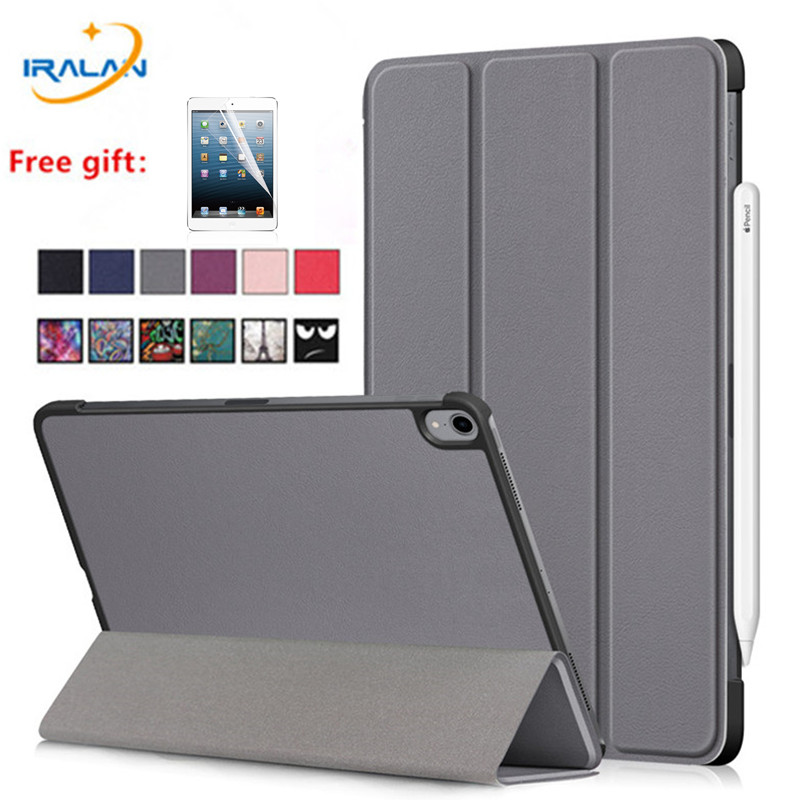 Slim PU Leather Flip Stand <font><b>Case</b></font> For Apple <font><b>iPad</b></font> Pro 11 2018 A1979 Tablet PC Protective Cover For New <font><b>iPad</b></font> Pro 11 inch+Screen Film image