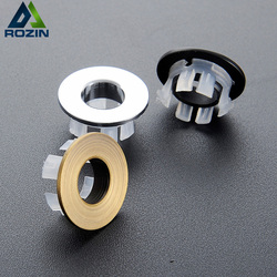 New design Bathroom Basin Sink Overflow Cover Brass Six-foot ring Bathroom Product Basin Tidy Insert Replacement
