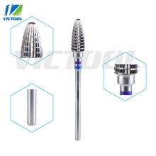Victool Tungsten Carbide Drill Bits Nail Tools Bullet Shape For Electric Manicure Drill Machines Pedicure Polishing Nail Bit 51