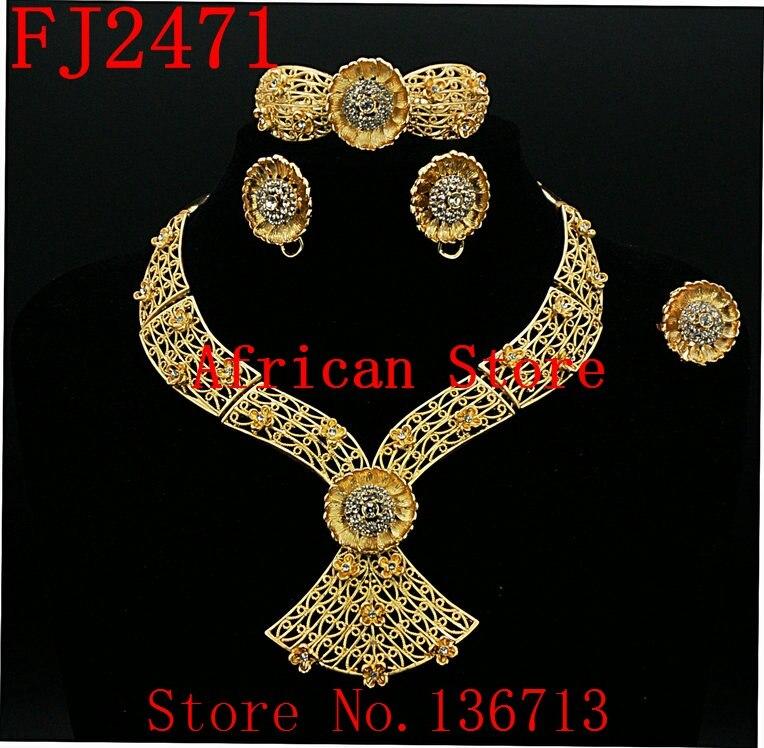 Free shipping latest italian wedding jewelry set new design ...