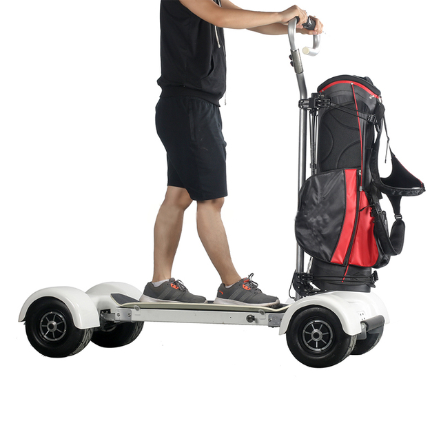2018 Newest Electric Golf Scooter With 1000w 60v 10 5inch Inflatable Four 4 Wheel Scooters Cart Two Sd Carts
