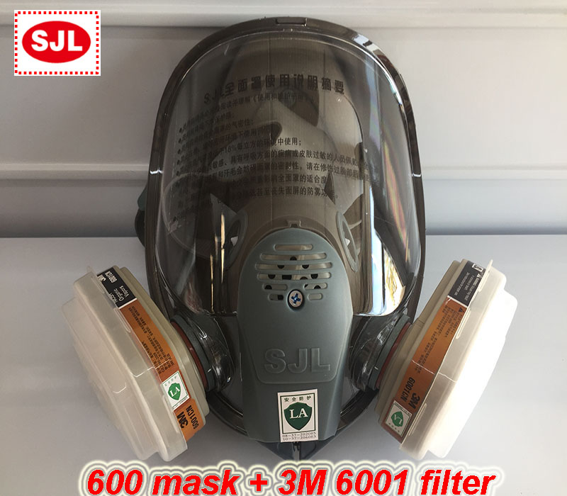 Gas Mask 7 Suits, Chemical Organic Gases And Vapors Mask Filter respirator Paint Mixing/Spray Graffiti,Construction,Renovation industrial anti dust paint respirator mask chemical gas filter paint safety equipment gas mask