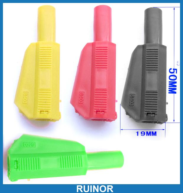 ФОТО 20pc 4 Color 4mm Banana Plug for Multimeter Test Probes