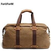 Vintage Men Travel Bags Men Tote Shoulder Travel Bag Portable Men Handbags Big Weekend Bag