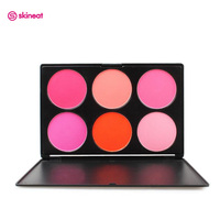 Skineat 6 Colors Delicate Silky Blusher Comfortable Blush Plate Makeup Long-lasting Easy to Wear Facial Powder Maquiagem