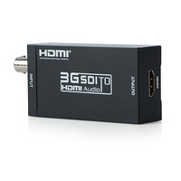 Full High Definition 3G SDI to HDMI Adapter Video Converter 1080P HDMI SDI Converter with Power Adapter for HDMI Monitors
